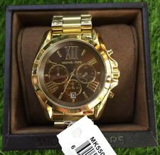 Michael Kors Bradshaw Oversize Chrono Watch Unisex Gold tone Brown Dial