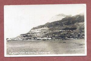Gibraltar from the Harbour RP 1933, J.Longstaff Vicar's Croft Farm Notts  AH1270