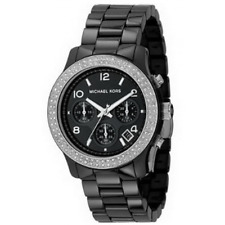 MK5190 New Genuine Michael Kors Polished Black Ceramic Bracelet Watch £379