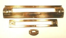 vintage STEWART-WARNER 91-1117 RADIO:  BRASS TRIM PACK - 3 BRASS PARTS & SCREWS