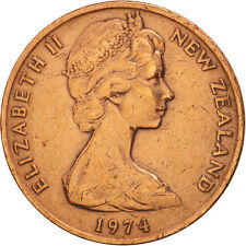 [#78546] New Zealand, Elizabeth II, 2 Cents, 1974, AU(50-53), Bronze, KM:32.1
