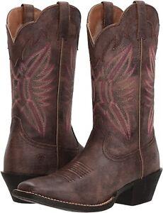 Ariat 245902 Womens Western Cowboy Boot Tack Room Chocolate Size 6.5 B Medium