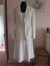 Next ivory 3 piece formal fully lined skirt suit size 12 BRAND NEW