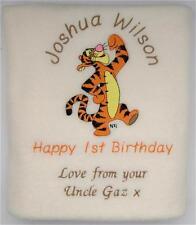 Tigger Luxury Personalised Baby Blanket  -  Personalised  -  1st Birthday!