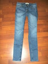 ABECROMBIE KIDS Blue Distressed Skinny Stretch Jeans Girls Size 12 NWOT