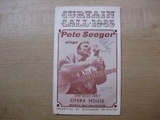Pete Seeger SIGNED Seattle Opera House 1965 Program
