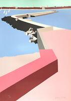 """Franco COSTA - """"Il porto"""" - Serigrafia, 100x70 cm"""