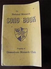 Vtg The National Monarch Song Book GREENSBORO Club Businessmen Ethics Service