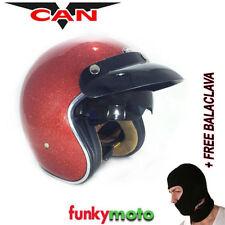 Casques jet rouge moto pour véhicule