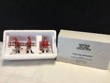 Dept. 56 Heritage Village Christmas Figurines The Fire Brigade Nib (T45)