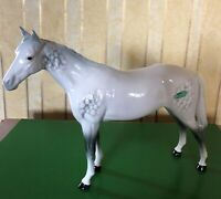 BESWICK HORSE BOIS ROUSSEL RACEHORSE MODEL 701 DAPPLE GREY GLOSS FINISH PERFECT