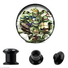 "PAIR-Ninja Turtles Acrylic Screw On Stash Ear Plugs 20mm/13/16"" Gauge Body Jewel"