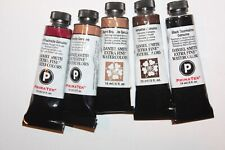 5 DANIEL SMITH Extra Fine Watercolor Paints-15ml-RED, BROWNS & BLACK- Series 3