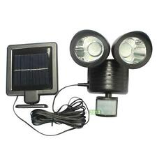 22LED Solar Powered PIR Motion Sensor Security Light Outdoor Garden Lamp E0Xc