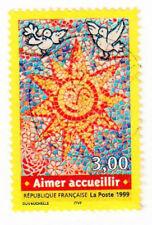 TIMBRE 1999 AIMER ACCUEILLIR OBLITÉRÉ CACHET ROND