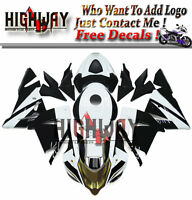 New Fairing Kit ABS Bodywork Cowling fit Kawasaki ZX-10R 2004-2005 black white