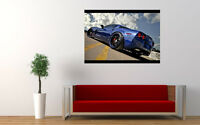 "BLUE CORVETTE Z06 NEW GIANT LARGE ART PRINT POSTER PICTURE WALL 33.1""x23.4"""