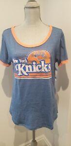 Women's 5th & Ocean by New Era Royal New York Knicks NBA T-Shirt - LARGE