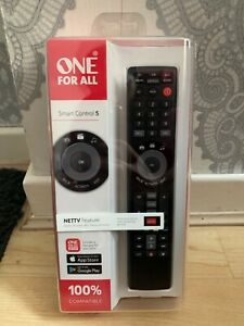 One For All Universal Remote Smart Control|5 Devices Control|Black|URC7955|NEW