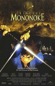 PRINCESS MONONOKE ~ SWORDS 26x40 MOVIE POSTER Hayao Miyazaki Anime Ghibli