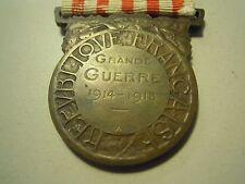Médaille Commémorative Grande Guerre 1914-1918 MEDAGLIA MILITARE FRANCIA (S-O-9)