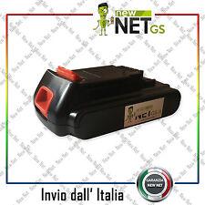 Batteria compatibile per Black & Decker bl1518 LBX20 18V 1500 mAh 03016