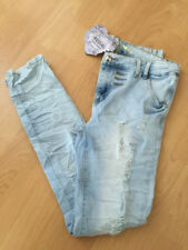 Cotton Ripped, Frayed High L30 Jeans for Women