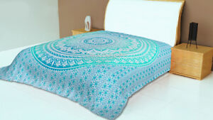 Hippie Bohemian Queen Tapestry Indian Mandala Wall Hanging Bedding Bedspread