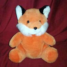 Vintage Logo Bear FOX Orange 10in Stuffed Plush 1993 White Muzzle Inner Ears