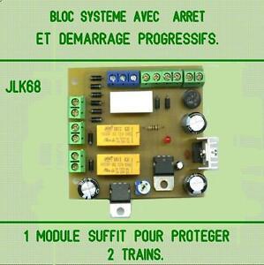 BLOC SYSTEME AVEC ARRËT ET DEMARRAGE PROGRESSIFS.
