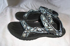 TEVA 6465 RUGGED OUTDOOR BLACK BLUE WHITE  SPORT HIKING SANDALS SHOE SZ 7