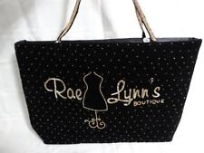 RaeLynn's Boutique Tote Gold Beads on Black