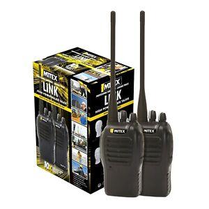 MITEX LINK TWIN PACK UHF 5W LICENSED HANDHELD TWO WAY RADIO