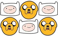 Adventure Time - Jake and Finn Variety 6 pack Official Card Party Fun Face Masks