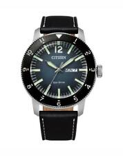 Citizen Dress Men's Eco-Drive Day and Date Watch AW0077-19L NEW