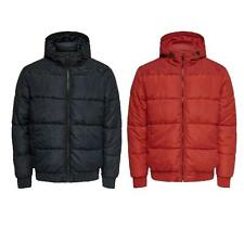 Mens Puffer Jacket Only & Sons Long Sleeve Hoodies Full Zip Up Puffa Hooded Coat