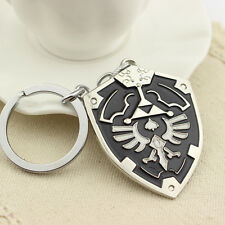 The Legend of Zelda Dark Links Hylian Shield Keychain Keyring Pendant Black