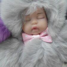 CUTE SLIPPING BABY REAL REX RABBIT FUR KEY RING/CHARM