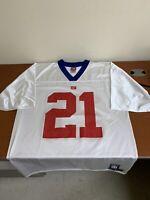 New York Giants Reebok Football Jersey #21 Tiki Barber LG