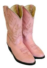 Women's Pink Cowboy Boots Ladies Shoes Smoky Mountain Faux Leather / Size 5