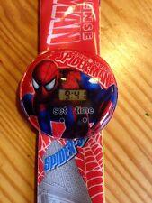 Easy Strap Spider Man Kids Digital Wrist Watch Girls Gift Spiderman Slap ESY
