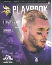 Minnesota Vikings New York Giants 10/3/16 Program Harrison Smith Andrew Sendejo