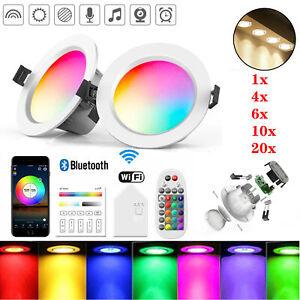LED Einbaustrahler WIFI Bluetooth Einbauleuchte Deckenspots RGB Dimmbar