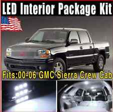 16X Xenon White LED Lights Interior Package 2000-2006 For GMC Sierra Crew Cab