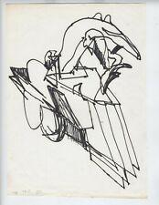 c1976  SUPERB!!! RICHARD HUNT AFRICAN AMERICAN ARTIST DRAWING HYBRID MARKER