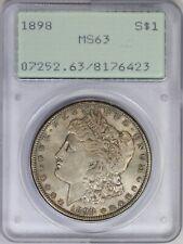 1898-P PCGS Silver Morgan Dollar MS63 OGH Rattler Slab Holder