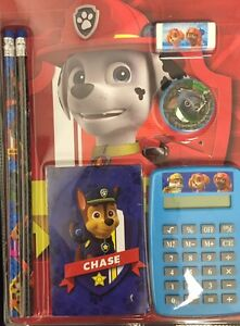 PAW PATROL CHASE 7-Pc. Back-to-School Stationery & Calculator Supplies Set