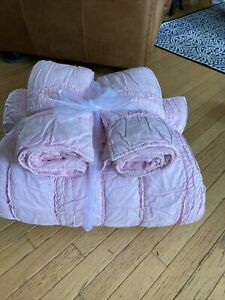 Pottery Barn Kids Full/Queen Pink Comforter+2 Euro Shams, Excellent gently used