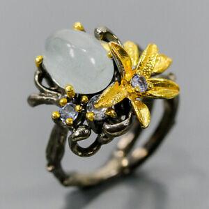 Jewelry Handmade  Aquamarine Ring Silver 925 Sterling  Size 6 /R167186