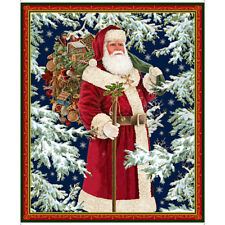"Quilting Treasures ~ Santa Father Christmas ~ 100% Cotton Fabric 36"" Quilt Panel"